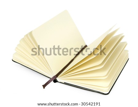 Note Book on White Background - stock photo