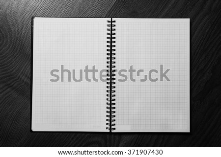 note book page, white sheet of paper, blank notebook, a place for writing, sheet of paper isolated, place for text - stock photo