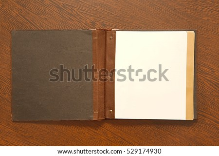 Note book with empty page
