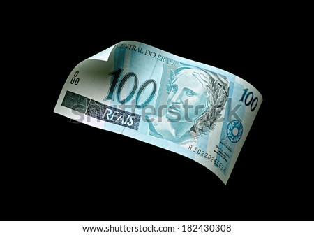 Note hundred  - Brazilian currency - stock photo