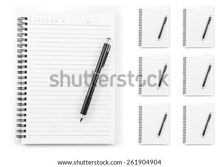 Note pad and pencil it is isolated on a white background. - stock photo