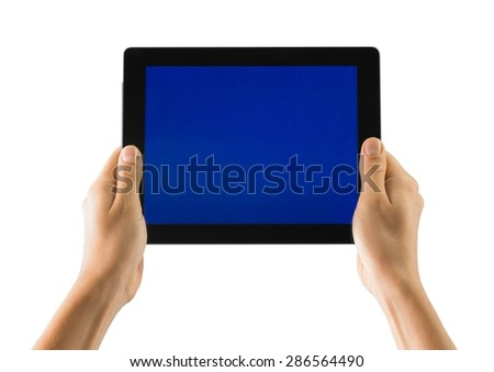 Note Pad, Human Hand, Digital Tablet.