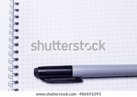 note pad on a white background
