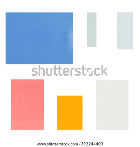 note pads sticky isolated on white background.