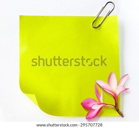 Note paper green - stock photo