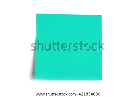note paper isolated on the white background - stock photo