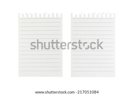 Note paper on white background - stock photo