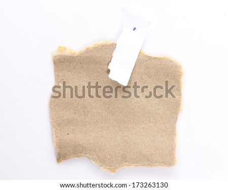 Note paper paper on white background - stock photo