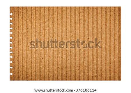 note paper ripped off from the notebook - stock photo