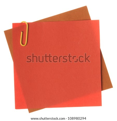 Note paper with clips - stock photo