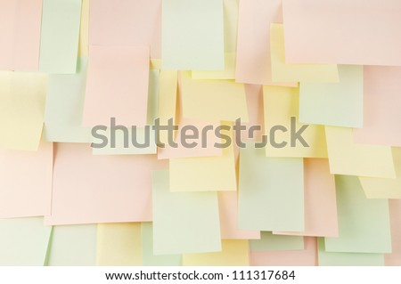 Note papers background - stock photo