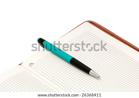 Notebook and ball-point pen