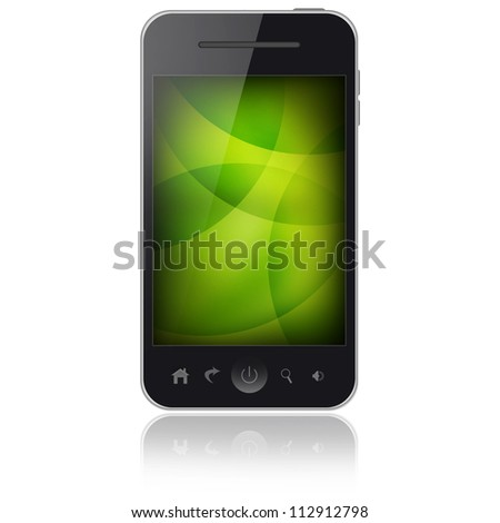 Notebook and mobile phone isolated on white background - stock photo