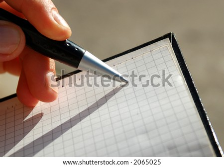 notebook and pen #3 - stock photo
