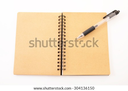 Notebook and pen - stock photo