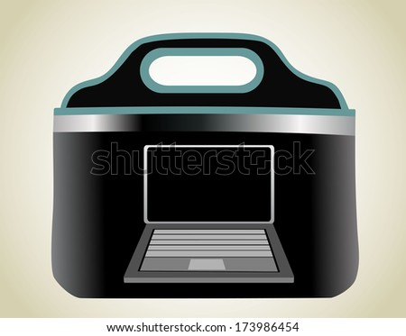 Notebook bag - stock photo