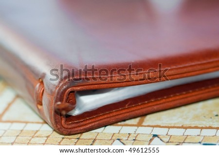 Notebook. close up. selective focus. shallow DOF. - stock photo