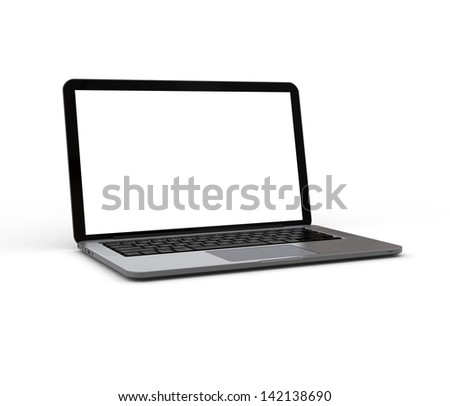Notebook computer generated image - stock photo