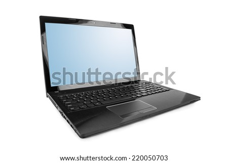 Notebook computer isolated on white background