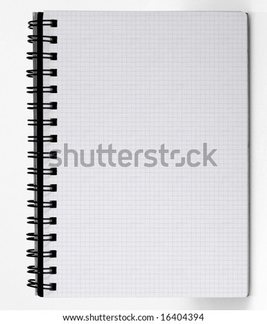 Notebook easy to isolate on white background