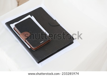 Notebook for work - stock photo