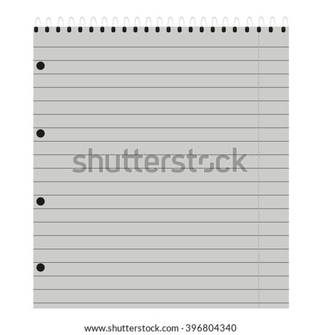 notebook in a  line - stock photo