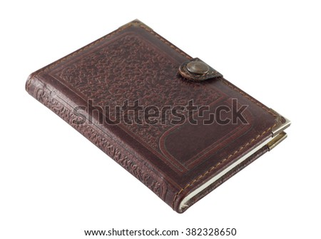 Notebook in leather cover