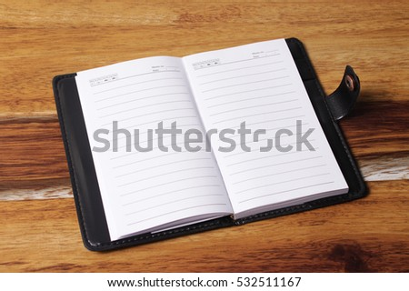 notebook in open position