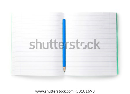 Notebook isolated on the white background