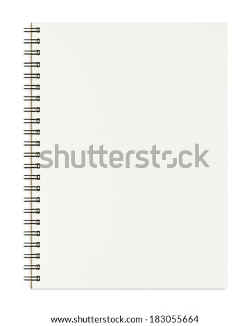 Notebook isolated on white background - stock photo