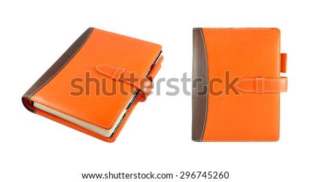 Notebook isolated on white background. - stock photo