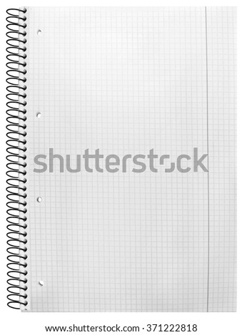 notebook isolated on white background