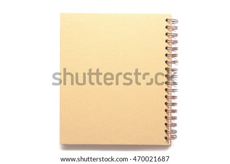 Notebook isolated on white background.