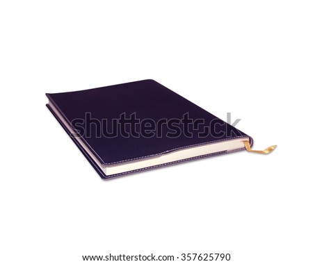 notebook isolated on white with clipping path. - stock photo