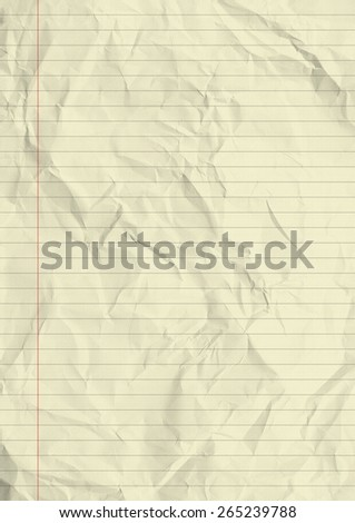 Notebook lined paper texture background. - stock photo