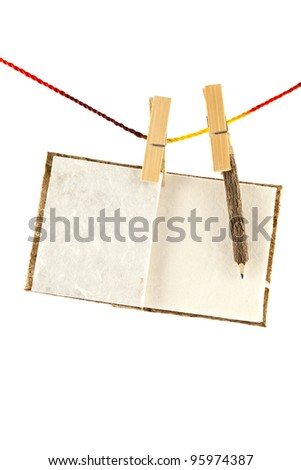 Notebook made ??from mulberry paper with pencil