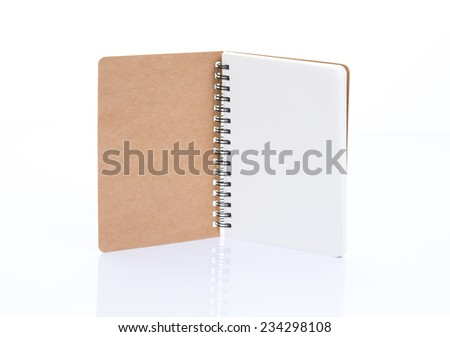 Notebook made from recycled paper - stock photo