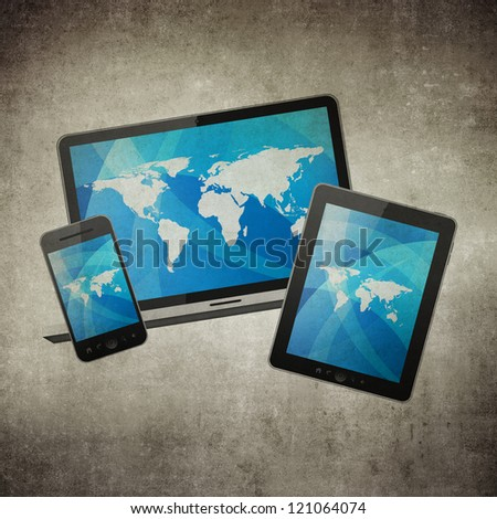 Notebook, mobile phone and tablet pc