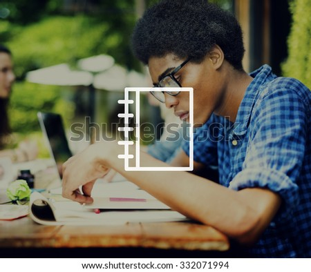 Notebook Note Data Information Concept - stock photo
