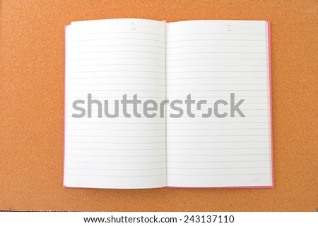 Notebook on the desk - stock photo