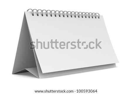 Notebook on white background. Isolated 3D image - stock photo