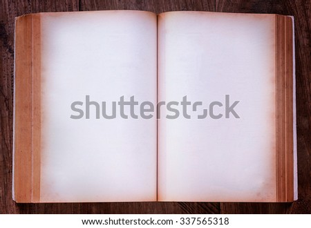 Notebook on wooden background