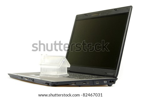 Notebook personal computer on white background