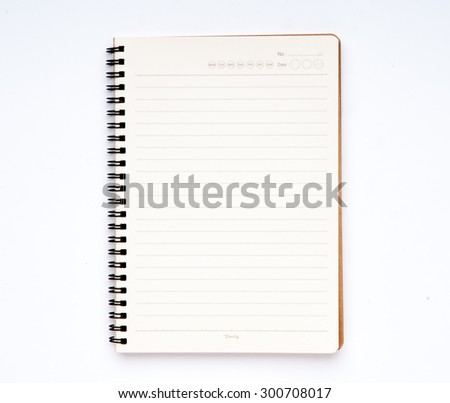 Notebook ready to write text