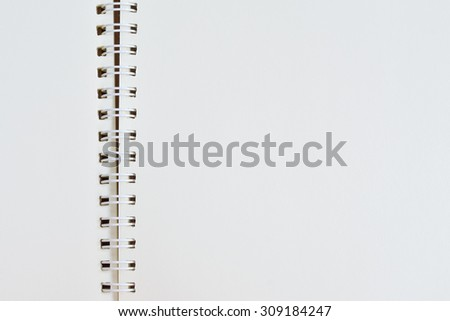 Notebook soft focus on white background