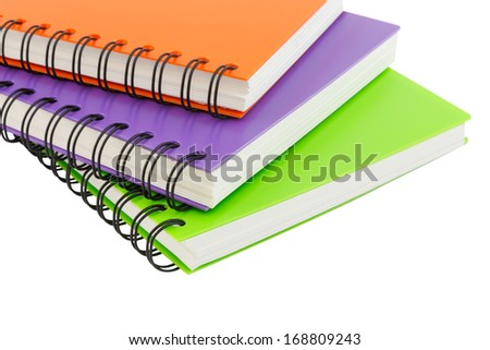 notebook spiral bound isolated and white background