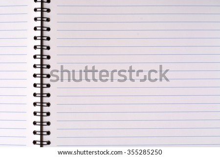 Notebook texture background - stock photo