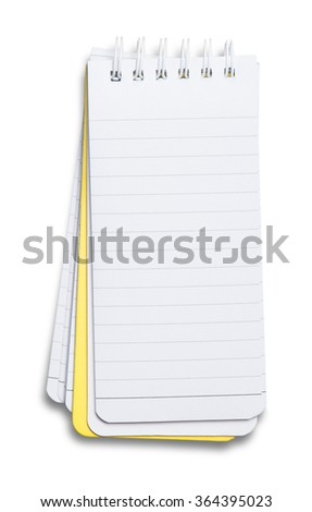 Notebook. textured isolated on the white background