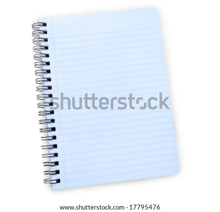 notebook with clipping path