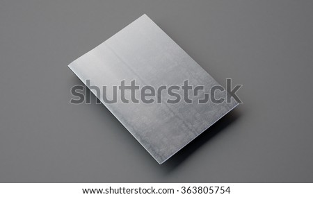 Notebook with leather cover on the gray background. 3d render - stock photo